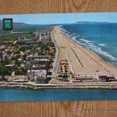 Postales: GANDÍA (VALENCIA). VISTA AÉREA, PLAYA Y PUERTO.. Lote 36594305