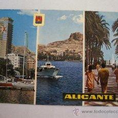 Postales: POSTAL DE ALICANTE -226- PUERTO Y EXPLANADA DE ESPAÑA (ESC DE ORO, AÑOS 70 APROX). Lote 36563814