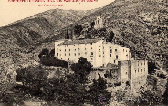POSTAL DE AGRES,SANTUARIO VISTA GENERAL (Postales - España - Comunidad Valenciana Antigua (hasta 1939))