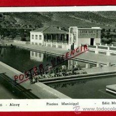 Postales: POSTAL ALCOY, ALICANTE, PISCINA MUNICIPAL, FOTO, FOTOGRAFICA, P75818. Lote 36785476