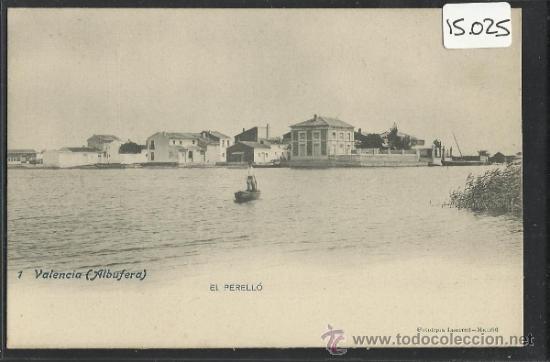 VALENCIA - ALBUFERA - 1 - EL PERELLO - FOT. LAURENT - REVERSO SIN DIVIDIR - (15.025) (Postales - España - Comunidad Valenciana Antigua (hasta 1939))