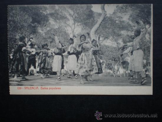 VALENCIA BAILES POPULARES POSTAL ANTIGUA (Postales - España - Comunidad Valenciana Antigua (hasta 1939))