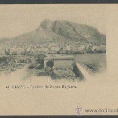 Postales: ALICANTE - 1 - CASTILLO DE SANTA BARBARA - REVERSO SIN DIVIDIR - (16.149). Lote 37556634
