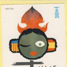 Postales: POSTAL VALENCIA FALLA CARTEL 1967 ARTISTA RUIZ -FALLAS 1967 SIN FECHA -P-01704. Lote 37570701