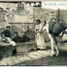 Postales: ALCOY : LA FUENTE DE ALGEZARES -CIRCULADA 1911. Lote 37974907