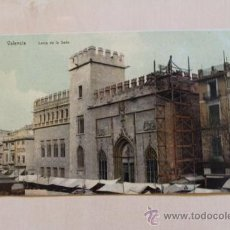 Postales: POSTAL. VALENCIA. LONJA DE LA SEDA. (EN OBRAS). CIRCULADA. Lote 38124486