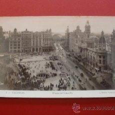 Postales: 3 VALENCIA - PLAZA DEL CAUDILLO - L. ROISIN FOTOGRAFO - INFONAL. Lote 38299335