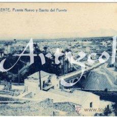 Postales: BONITA Y RARA POSTAL - CREVILLENTE (ALICANTE) - PUENTE NUEVO Y BARRIO DEL PUENTE. Lote 39831922