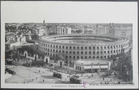 (806)POSTAL SIN CIRCULAR,PLAZA DE TOROS,VALENCIA,VALENCIA,COMUNIDAD VALENCIANA,ROISIN (Postales - España - Comunidad Valenciana Antigua (hasta 1939))