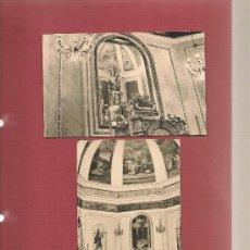 Postales: 2 FOTOGRAFIAS ORIGINALES INTERIOR IGLESIA PARROQUIAL ENOVA VALENCIA. Lote 38859310