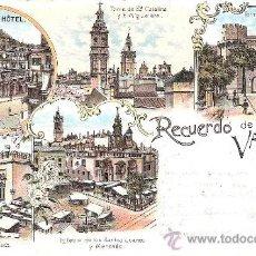 Postales: RECUERDO DE VALENCIA .- 1902 - EXCELENTE POSTAL-. Lote 39238952
