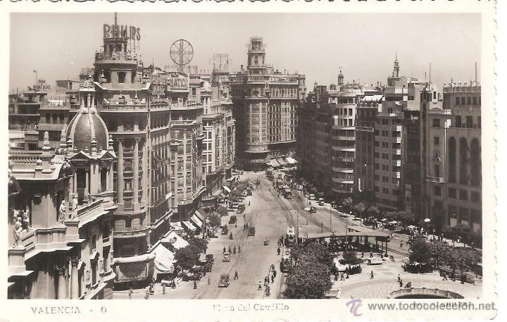 POSTAL VALENCIA -PLAZA DEL CAUDILLO FOT.F.GUILLEN NUM.6 -OCASIÓN- (Postales - España - Comunidad Valenciana Antigua (hasta 1939))