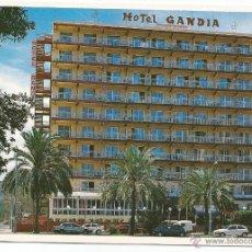 Postales: POSTAL HOTEL GANDÍA. GANDÍA (VALENCIA) [SIN CIRCULAR]. Lote 39676267