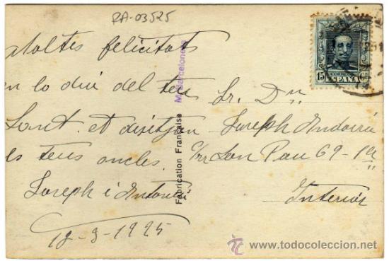 Postales: RARISIMA POSTAL - ALCOY (ALICANTE) - EN LAS SIERRA DE ALCOY - Pelicula Isocrom Agfa - Foto 2 - 39815874