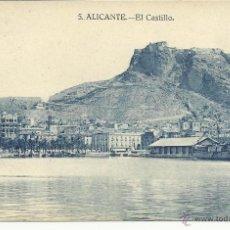 Postales: ANTIGUA POSTAL DE ALICANTE -EL CASTILLO - PAPELERIA MARIMON, SIN CIRCULAR. Lote 39904926