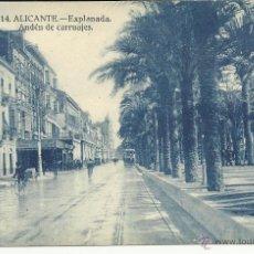 Postales: ANTIGUA POSTAL DE ALICANTE -EXPLANADA ANDEN DE CARRUAJES - PAPELERIA MARIMON, SIN CIRCULAR. Lote 39905141