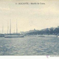 Postales: ANTIGUA POSTAL DE ALICANTE -MUELLE DE COSTA- PAPELERIA MARIMON, SIN CIRCULAR. Lote 39905372