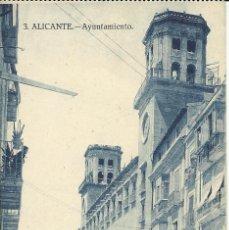 Postales: ANTIGUA POSTAL DE ALICANTE -AYUNTAMIENTO- PAPELERIA MARIMON, SIN CIRCULAR. Lote 39905630