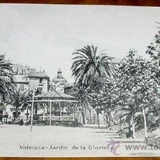 Cartoline: ANTIGUA POSTAL DE VALENCIA - JARDIN DE LA GLORIETA - NO CIRCULADA - ED. J. F.. Lote 39520469