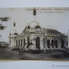 Postales: POSTAL. EXPOSICIÓN REGIONAL VALENCIA. PALACIO DE FOMENTO. Nº 47. A.FABERT. CIRCULADA 1909.. Lote 40265316