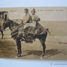 Postales: POSTAL. TIPOS DE LA HUERTA. UNA GRUPA. NÚM.19. CIRCULADA 1923.. Lote 40266484