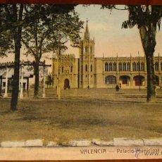 Cartoline: ANTIGUA POSTAL COLOREADA DE VALENCIA - PALACIO MUNICIPAL - NO CIRCULADA.. Lote 39547016