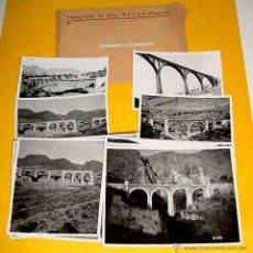 Postales: ANTIGUO LOTE DE 13 FOTOGRAFIAS DE LOS PUENTES SOBRE EL RIO BARCHELL - ALCOY, ALICANTE - FOTOGRAFIA D. Lote 44876584