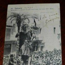 Postales: ANTIGUA POSTAL DE VALENCIA, MONUMENTAL IMAGEN DE SAN CRISTOBAL, N. 20, FOT. LAURENT, MADRID, NO CIRC. Lote 39612004