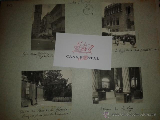 LOTE DE 44 FOTOGRAFIAS DE VALENCIA 1903, MERCADOS, CALLES, TRANVIAS, CARTELES TOROS, ETC. (Postales - España - Comunidad Valenciana Antigua (hasta 1939))