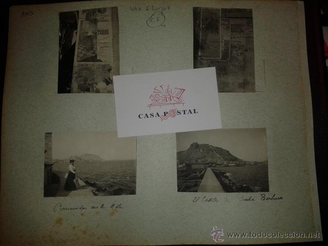 Postales: Lote de 44 fotografias de Valencia 1903, mercados, calles, tranvias, carteles toros, etc. - Foto 2 - 40280833