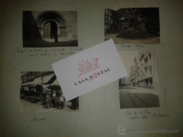 Postales: Lote de 44 fotografias de Valencia 1903, mercados, calles, tranvias, carteles toros, etc. - Foto 4 - 40280833