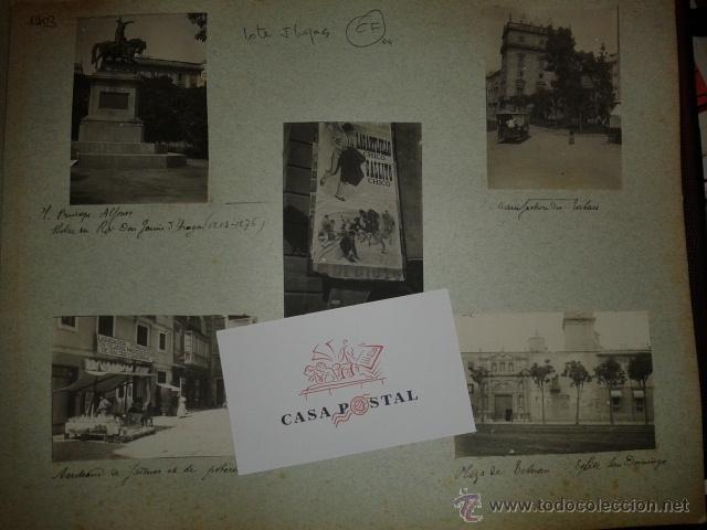 Postales: Lote de 44 fotografias de Valencia 1903, mercados, calles, tranvias, carteles toros, etc. - Foto 6 - 40280833