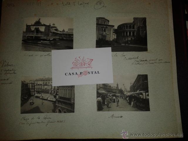 Postales: Lote de 44 fotografias de Valencia 1903, mercados, calles, tranvias, carteles toros, etc. - Foto 11 - 40280833