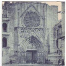 Cartoline: VALENCIA: CATEDRAL. PUERTA DE LOS APÓSTOLES. HAUSER Y MENET. REVERSO SIN DIVIDIR. CIRCULADA (1901). Lote 40525086