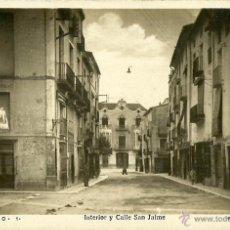 Postales: BENICARLÓ. INTERIOR Y CALLE SAN JAIME. FOTOGRÁFICA.. Lote 40541797