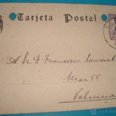 Postales: TARJETA POSTAL FIRMADA POR EL BARON VALLVERT FECHADA 19 ENERO DE 1943 VALENCIA MADRID. Lote 40548724