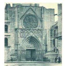 Postais: VALENCIA CATEDRAL PUERTA DE LOS APOSTOLES. HAUSER Y MENET 738. REVERSO SIN DIVIDIR. CIRCULADA. Lote 40686815