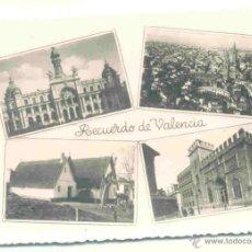 Postales: RECUERDO VALENCIA - SIN CIRCULAR . Lote 40930321