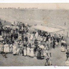 Postales: VALENCIA. PLAYA DE LAS ARENAS. FRANQUEADA EN MARZO DE 1921.. Lote 40980072
