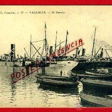 Postales: POSTAL VALENCIA, CRUMIERE, EL PUERTO , BARCOS , ORIGINAL ,P92285. Lote 41129061