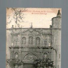 Postales: VALENCIA FACHADA DEL EX CONVENTO DE SANTO DOMINGO - EDICIÓN DURA PEREZ - POSTAL - POSTAL. Lote 41155344