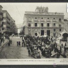 Postales: ALCOY - 2 - AYUNTAMIENTO PLAZA DE LA REPUBLICA - ROISIN FOTOGRAFICA - (18925). Lote 41261103