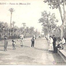 Postales: PS2008 ELCHE 'PASEO DE ALFONSO XIII'. CASTAÑEIRA Y ÁLVAREZ. SIN CIRCULAR. Lote 41317292