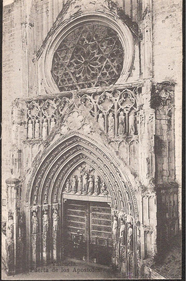 POSTAL VALENCIA PUERTA DE LOS APOSTOLES (Postales - España - Comunidad Valenciana Antigua (hasta 1939))