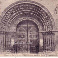 Postales: VALENCIA - CATEDRAL - PUERTA BIZANTINA. Lote 41404763