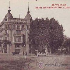 Postales: VALENCIA. BAJADA DEL PUENTE DEL MAR Y LLANO DEL REMEDIO. SANCHIS HERMANOS. Lote 42277099