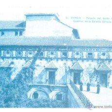 Postales: POSTAL REPRODUCCION DE L`ARXIU J. HUGUET GANDIA PALACIO DEL SANTO DUQUE EXTERIOR DE LA GALERIA DORAD. Lote 42558758