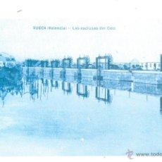 Postales: POSTAL REPRODUCCION DE L`ARXIU J. HUGUET SUECA VALENCIA LAS ESCLUSAS DEL COTO. Lote 42558825