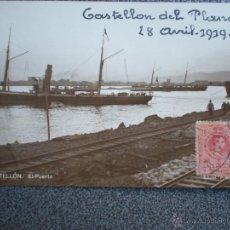 Postales: CASTELLÓN DE LA PLANA EL PUERTO POSTAL FOTOGRÁFICA ANTIGUA AÑO 1919. Lote 42713546