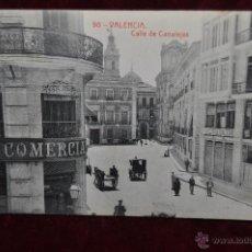 Postales: ANTIGUA POSTAL DE VALENCIA. CALLE DE CANALEJAS. FOTPIA. THOMAS. SIN CIRCULAR. Lote 42927544